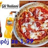 Zamów 3 Pizze lub Pasty i odbierz napój 0,85l za 1,99 zł