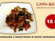 Kurczak z warzywami w sosie chińskim(chicken with vegetables in chinese sauce)