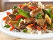 Wieprzowina z warzywami w sosie chińskim (Pork with vegetables in chinese sauce)