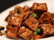 tofu smażone w sosie czosnkowym