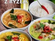 Thai curry z ryżem i wieprzowiną