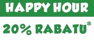 HAPPY HOUR - 20 % RABATU