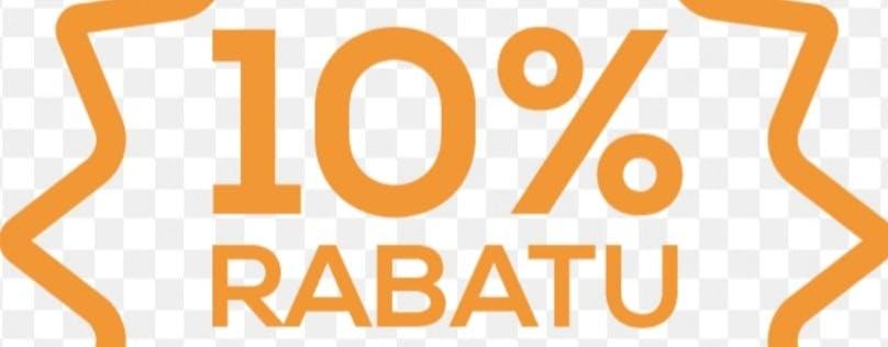 Rabat stały -10% dla Klientów, którzy byli z nami podczas pandemii.