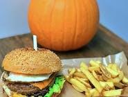 Burger miesiąca  + frytki 160g