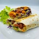 4. Danie Fit! : Tortilla fit z pieczonym  batatem, grillowanym kurczakiem, odrobiną jalapeno, warzywami oraz pysznym sosem miodowo musztardowym
