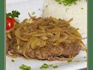 Rumsztyk wołowo-wieprzowy z cebulką