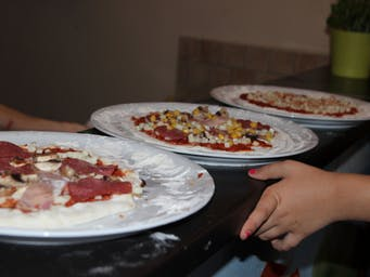 Pizze zrobione przez dzieci :)