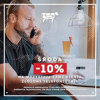 W Środę - 10% na wszystkie zamówienia telefoniczne!