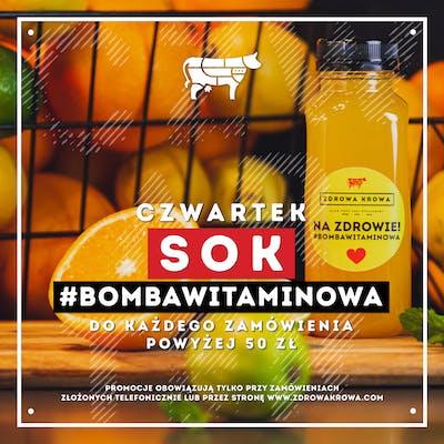 W Czwartek #bombawitaminowa GRATIS, przy zamówieniu powyżej 50,00 PLN!
