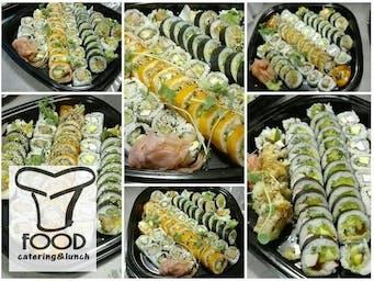 Talerze sushi