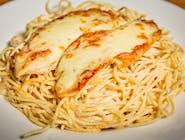 Spaghete cu piept de pui la grătar