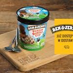 Ben & Jerry's Peaunt Butter & Cookies 500 ml - Wegańskie lody waniliowe z ciasteczkami o smaku czekoladowym z sosem o smaku masła orzechowego