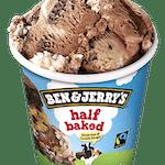 Ben & Jerry's Half Baked 500 ml - Lody czekoladowe i waniliowe z ciasteczkami brownie i kawałkami ciasteczek z czekoladą