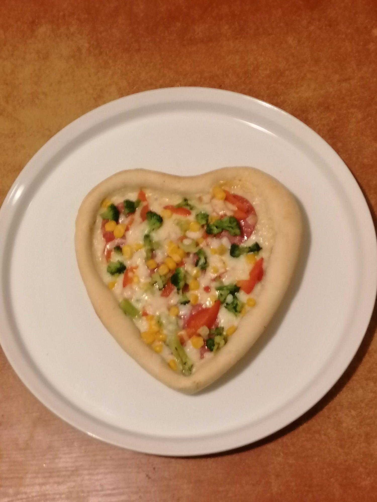 Pizza serce 23cm 3 składniki do wyboru.=10zł