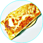 Naleśnik z kurczakiem gyros, kapustą pekińską i kukurydzą