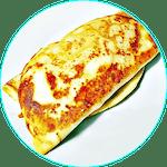 Naleśnik z kurczakiem, szpinakiem i serem feta