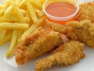 Lunch II : Stripsy z kurczaka , zupa dnia