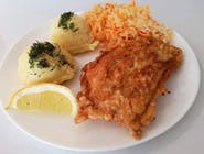 Lunch dnia II  : filet z dorsza , zupa szczawiowa z ryżem