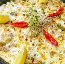2. Paella z warzywami i grzybami (porcja dla 2 osób)