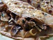 Naleśnik z pieczarkami,serem i szynką