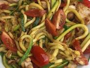Spaghetti z cukini z pomidorami