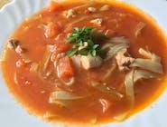 Zupa z pieczonych pomidorów z kurczakiem