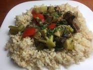 Carry warzywne z ryżem