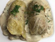 Gołąbki wegetariańskie kaszą gryczaną w sosie pieczarkowym 2 szt.
