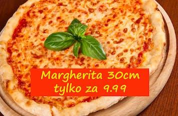 Margherita 30cm za 9.99 przy zakupie dowolnej rodzinnej pizzy.