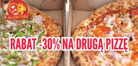 Promocja -30% na drugą pizzę.