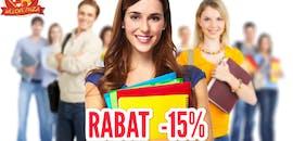Zniżka 15% dla uczniów i studentów!