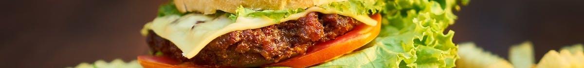 Burgery kurczak i szarpana wieprzowina