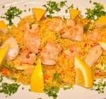 Paella cu pește