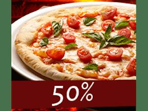 Rabat 50% na trzecią małą pizzę