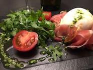 Mozzarella di bufala/ prosciutto di San Daniele/ rucola