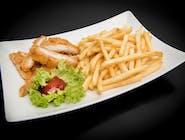 Kurczak chrupiący z frytkami
