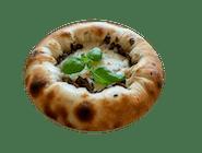 Pizzerka (sos, ser mozzarella Galbani w środku i po boczkach oraz pieczarki i cebulą)