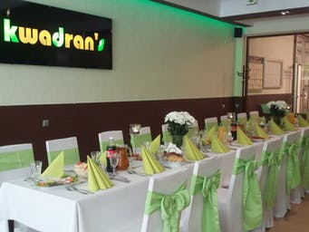 Catering na przyjęcie z okazji I Komunii Świętej w lokalu Kwadrans Bistro