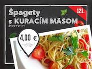 121. Špagety s kuracím mäsom