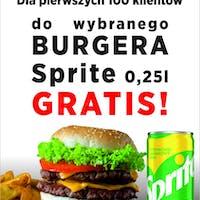 Zamów Burgera - odbierz Sprite