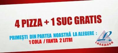 4 Pizza + 1 Suc Gratis