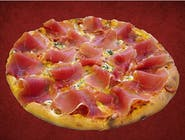 Pizza Gorgonzola con Crudo