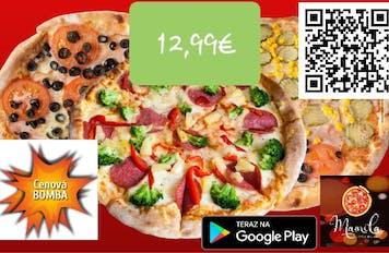 3 pizze za 12,99€