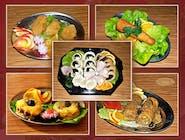 ZESTAW mięsa+sałatki+patery 30 szt mięs /cena zawiera opakowania/