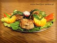Mieszek z fileta drobiowego lub karkówki z brzoskwinią