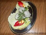 Pulpet drobiowy gotowany w sosie koperkowym