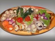 Patera nr.9 5 x schab ze śliwką, 5 x szynka z sałatką warzywną, 10 x galantyna drobiowa