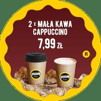 2 x mała kawa Cappuccino za 7,99 zł