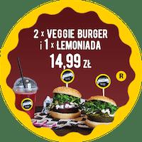 2 x Veggie Burger 1 x Lemoniada za 14,99 zł