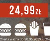 Chicken Royal Burger zestaw z lemoniadą i hamburger DeLuxe za 24,99 zł.